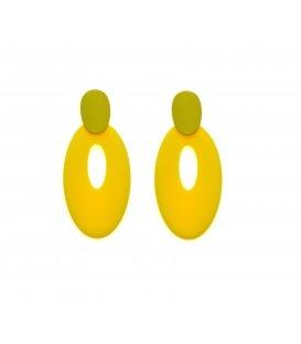 Gele langwerpige ovale oorstekers