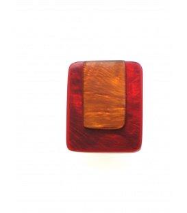 Rood met oranje oorclips van Culture Mix