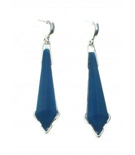 Blauwe langwerpige oorbellen van Wings Byou