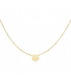 Goudkleurige halsketting met een ronde pompoen