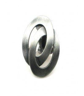 Zilverkleurige metalen ovale oorclips