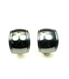 Zwarte (gun black) halfronde oorclips