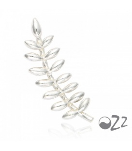 Zilveren (925) oorbellen (earline) in bladvorm