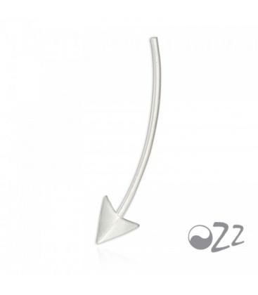 Zilveren (925) oorbellen (earline) in pijlvorm, oor klimmer, ear climber