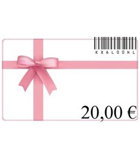 Cadeaubon van 20 euro