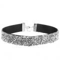 Trendy choker met mooie glinsterende zilverkleur strass steentjes
