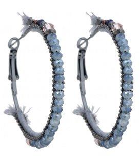Blauwe gekleurde oorbellen met mooie detail