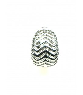 Zilverkleurige opengewerkte metalen oorclips