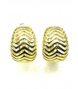 Goudkleurige opengewerkte metalen oorclips