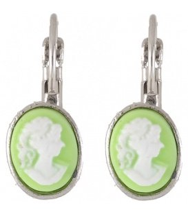 Licht groene ovale oorbellen