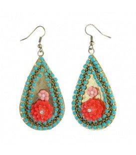 Turquoise mooie oorbellen