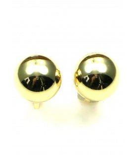 Bolle oorclips in goudkleur