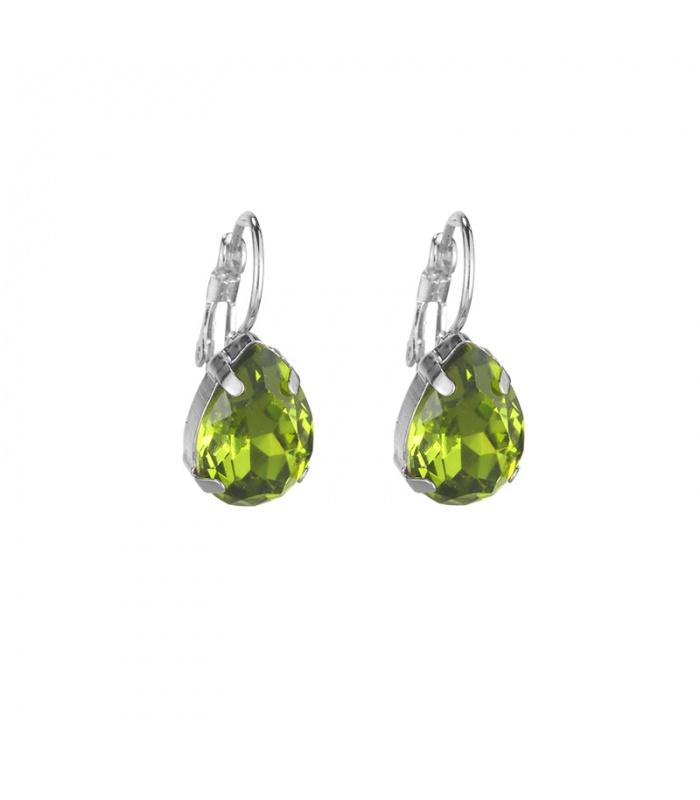 oorbellen met groene steen