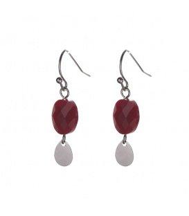 Mooie rode oorbellen