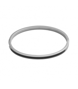 Grijze trendy stainless steel armband