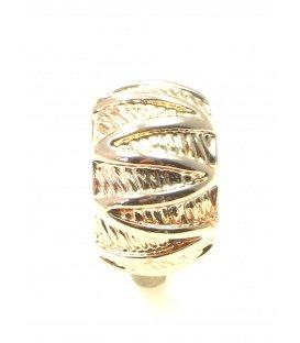 Halfronde rose gold kleurige oorclips met motief
