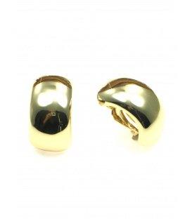Grote goudkleurige halfronde oorclips
