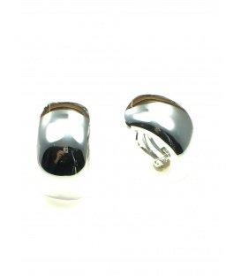 Zilverkleurige halfronde oorclips