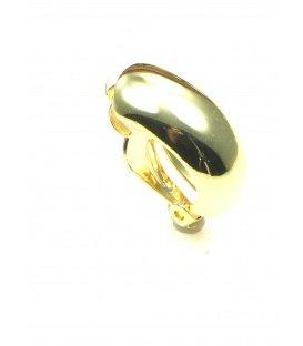 Gladde goudkleurige metalen halfronde oorclips