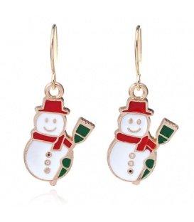 Sneeuwpop kerstmis oorbellen