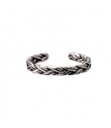 Zilverkleurige ring (ringmaat 18mm)