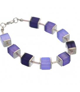 Paarse armband van glaskralen