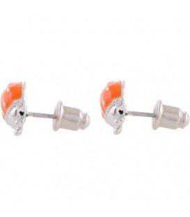 Oranje lieveheersbeestjes oorbellen
