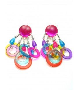 Mooie gekleurde oorclips met ringetjes